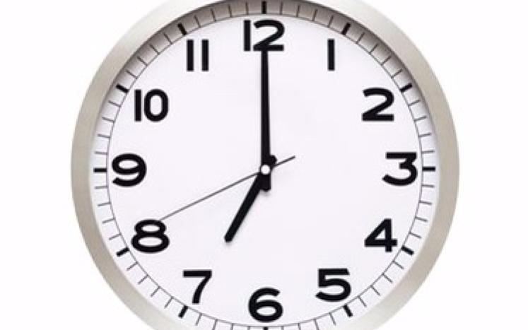 7:00 AM on the Clock