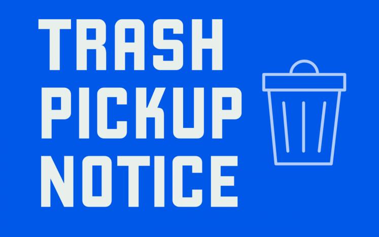 trash notice